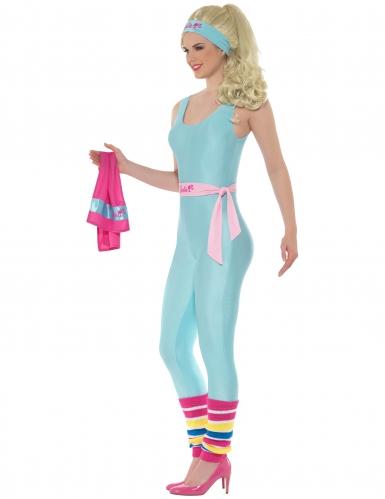 Barbie™ Kostüm für Damen Sport blau-pink 6-teilig-1