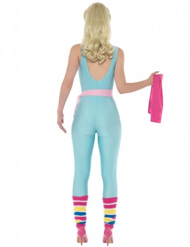 Barbie™ Kostüm für Damen Sport blau-pink 6-teilig-2