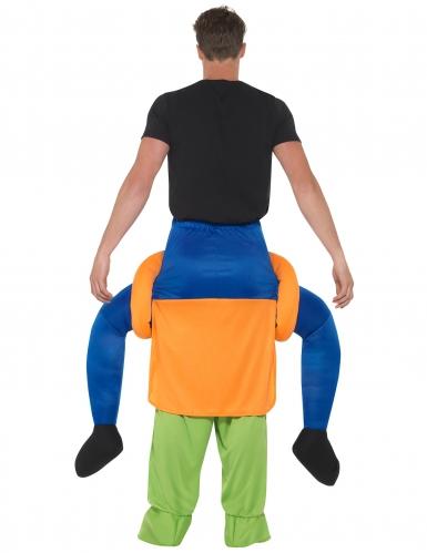 Mann auf Rücken von Kürbis Halloweenkostüm-2