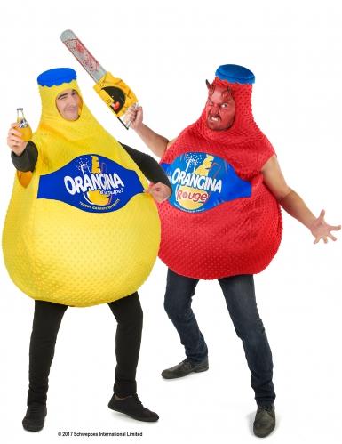 Orangina™ Paarkostüm für Erwachsene gelb-rot