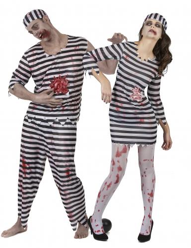 Paarkostüm Sträfling - Zombie für Halloween