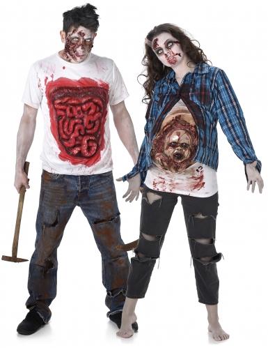Paarkostüm - Zombie T-Shirt für Sie und Ihn
