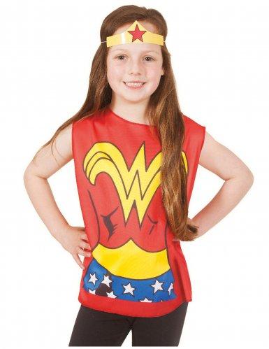 Wonder Woman™ T-Shirt und Stirnband für Kinder bunt
