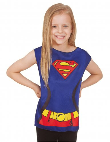 Supergirl™ T-Shirt für Kinder blau-rot-gelb