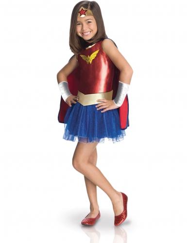 Wonder Woman™ Kinderkostüm blau-rot-gold