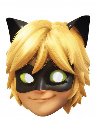 Maske aus Karton Cat Noir™ für Kinder