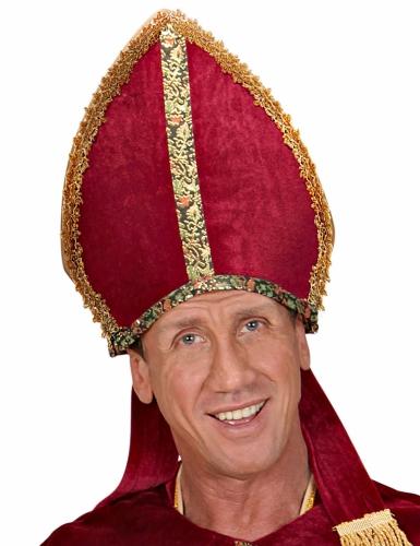 Bischof Kopfbedeckung rot-gold-1