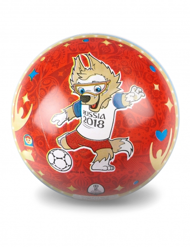 WM-Fussball 2018 Fanartikel 23 cm rot-bunt-1