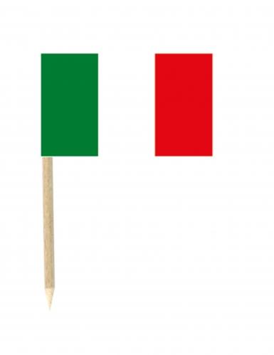 50 Flaggen Mini-Spicker Italien 3 x 5 cm