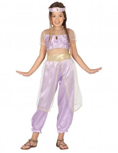 Orientalische Märchenprinzessin Kostüm für Mädchen flieder