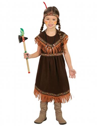 Bezauberndes Indianerin Kostüm für Mädchen braun-orange