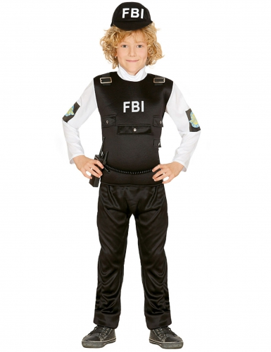 Kinderkostüm FBI-Agent schwarz-weiß
