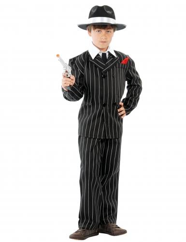 Mafia-Gangster Kostüm für Kinder schwarz-weiss