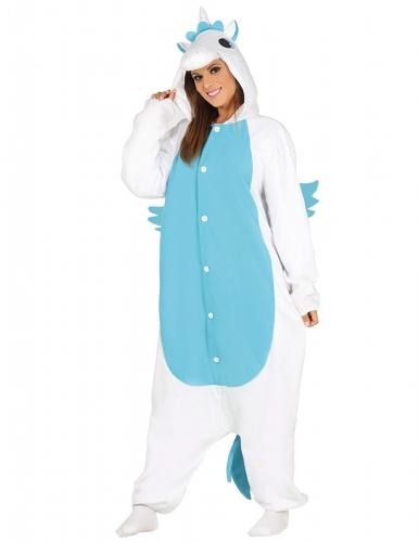 Einhorn Kostüm Overall für Erwachsene