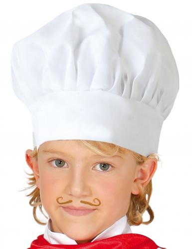 Kochmütze für Kinder weiss