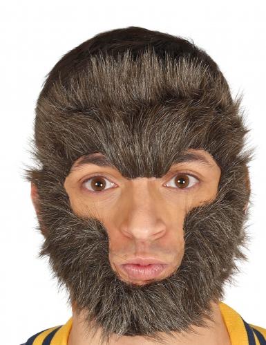 Wolfsmaske Kostümzubehör für Erwachsene Tiere braun