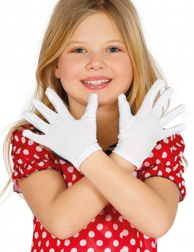 Handschuhe für Kinder Kostümzubehör weiss