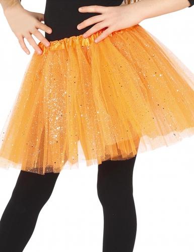 Pailletten-Tutu für Mädchen orange 34cm