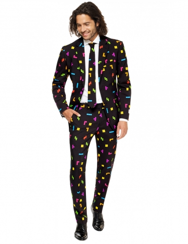 Mr. Tetris™ Herren-Anzug Opposuits™ schwarz-bunt