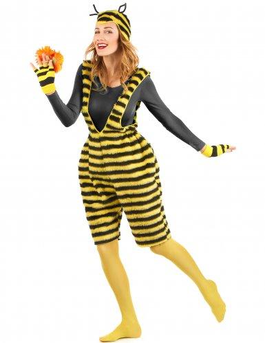 Bienenkostüm für Damen Latzhose Plüsch