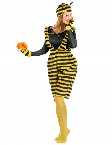 Bienenkostüm für Damen Latzhose Plüsch-1