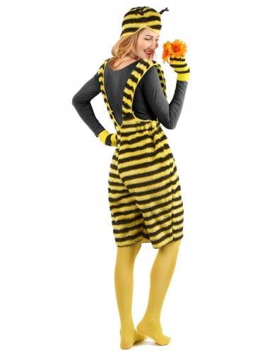 Bienenkostüm für Damen Latzhose Plüsch-2