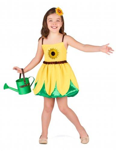 Sonnenblumen-Kostüm für Mädchen gelb