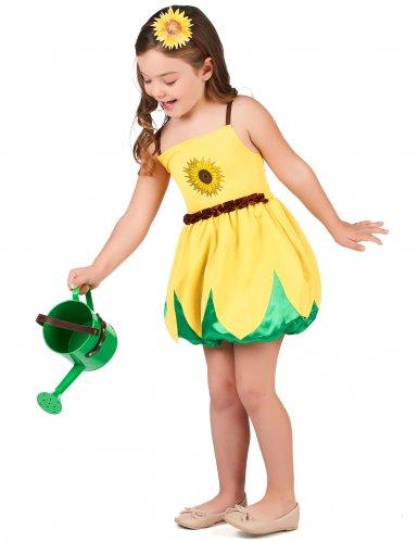 Sonnenblumen-Kostüm für Mädchen gelb-1