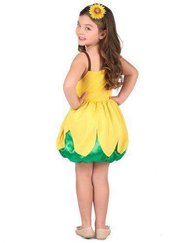 Sonnenblumen-Kostüm für Mädchen gelb-2