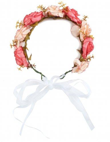 Hippie-Blumenkranz für Erwachsene Kostümaccessoire bunt-1