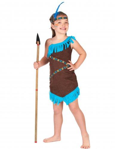 Indianer Kostüm braun für Mädchen