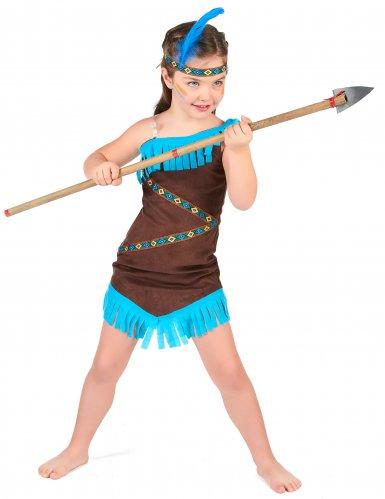 Indianer Kostüm braun für Mädchen-1