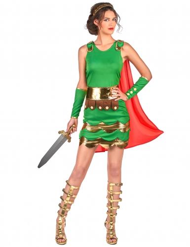 Römerinnen Kostüm für Damen grün