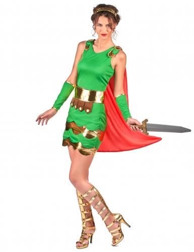 Römerinnen Kostüm für Damen grün-1