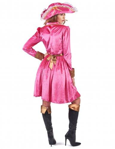 Piratinnenkostüm für Damen in rosa Barockstil-2