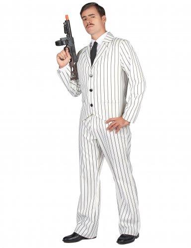 Weisses Gangster Kostüm für Herren-1