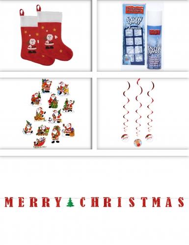 Set Weihnachtsdekoration