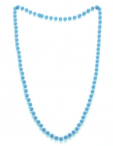 Perlen-Halskette Collier für Damen Kostüm-Accessoire blau