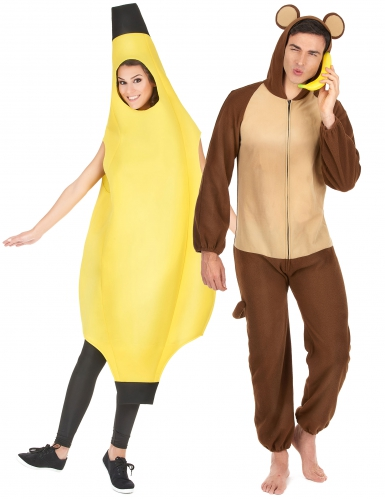 Paarkostüm Affe und Banane für Kinder