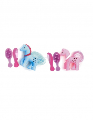 mini pony zum k mmen pink blau partydeko und g nstige faschingskost me vegaoo. Black Bedroom Furniture Sets. Home Design Ideas