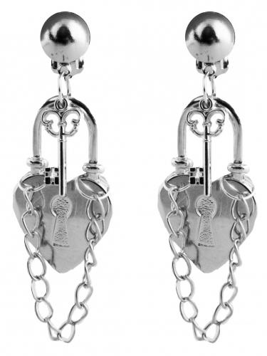 Sträflings-Ohrringe Kostüm-Accessoire silber-1