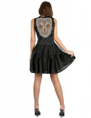 Verruchtes Skelettkostüm für Damen Halloween schwarz-1