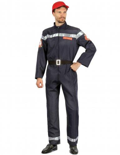 Feuerwehrmann-Herrenkostüm Lebensretter blau