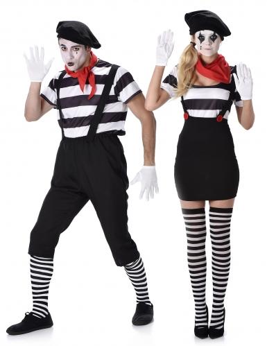 Paarkostüm Pantomime für Erwachsene