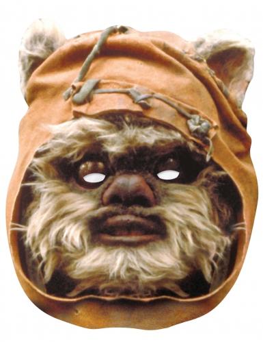 Star Wars™-Pappmaske Ewok braun