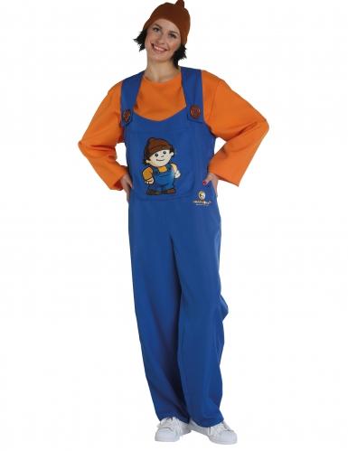 Anton Mainzelmännchen™ Kostüm für Erwachsene blau-orange