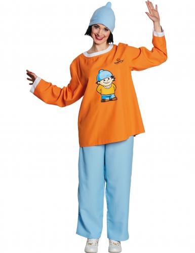 Conni Mainzelmännchen™ Kostüm für Erwachsene orange-blau