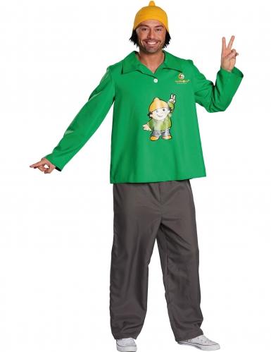 Berti Mainzelmännchen™ kostüm für Erwachsene grün-gelb-grau