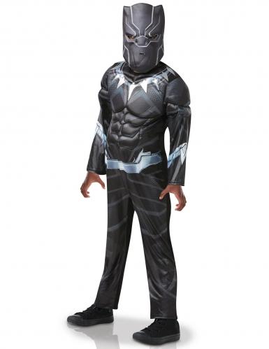 Black Panther™ Deluxe Lizenzkostüm für Kinder schwarz