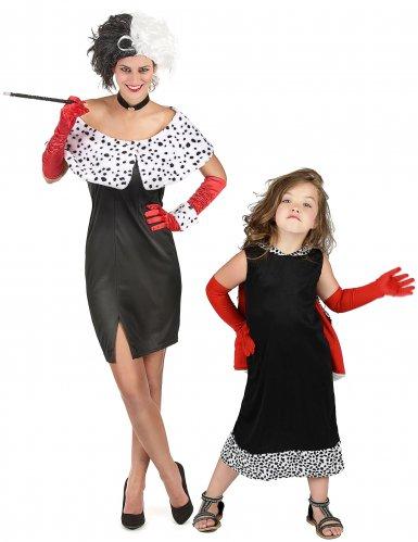 Fiese Dalamtiner - Lady Mutter-Tochter Kostüm